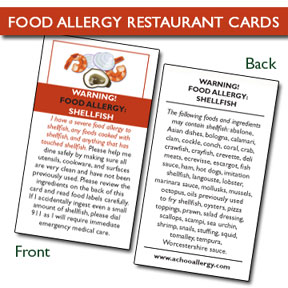 Food Allergy Cards