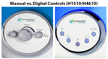 Pure Guardian Humidifier Controls