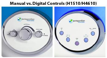Pure Guardian Humidifier Controls