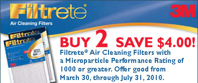 Buy 2 3M Filters and Save $4.00 with rebate!