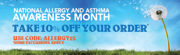 Take 10% Off During Allergy and Asthma Awareness Month!
