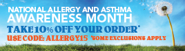 AchooAllergy.com Allergy Awareness Month Sale! Take 10% Off Your Favorite Allergy Relief Products!