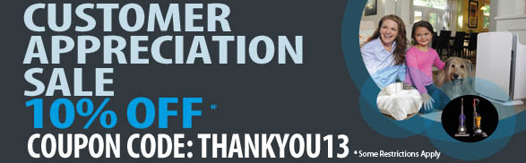 Customer Appreciation Sale! 10% off your order during March 2013