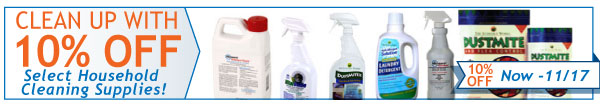 10% Off Select Cleaning Products Now - November 17th!