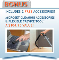 Free Microset and Flexible Crevice Tool with the Swing!