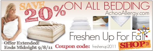 20% Off All Bedding! Now - 9/8/11!