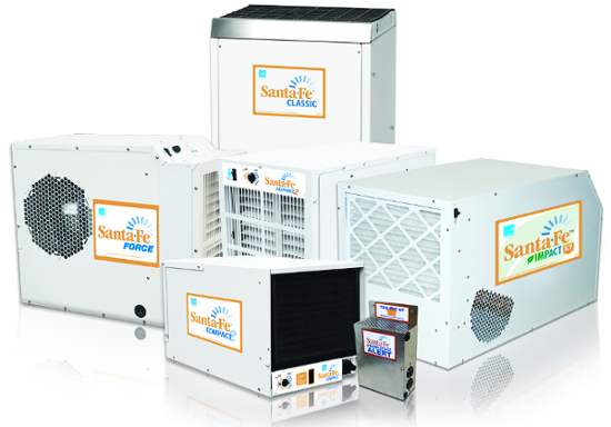 Shop the full line of Santa Fe dehumidifiers