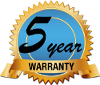 The Santa Fe RX Dehumidifier is Covered by a 5 Year Warranty