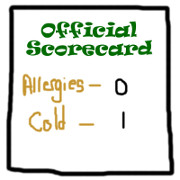 Allergies vs. Cold - Official Scorecard Round 1