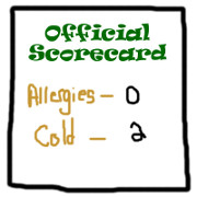 Allergies vs. Cold - Official Scorecard Round 2
