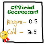 Allergies vs. Cold - We Have a Winner!