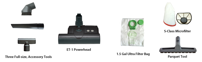 SEBO Airbelt D4 Canister Vacuum Accessories