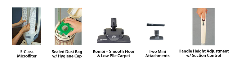 SEBO Felix 4 Kombi Upright Vacuum Accessories