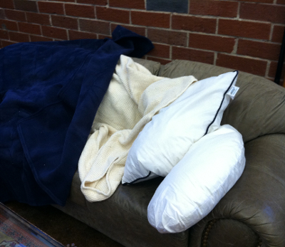 Snuggling Up with an Allergy Armor Organic Cotton Blanket, Vellux Blanket, Snoozer Pillow and Allergy Armor Pillow!