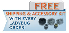 Deluxe Ladybug 2350 Vapor Steam Cleaners - Free Shipping and Free Accessories!