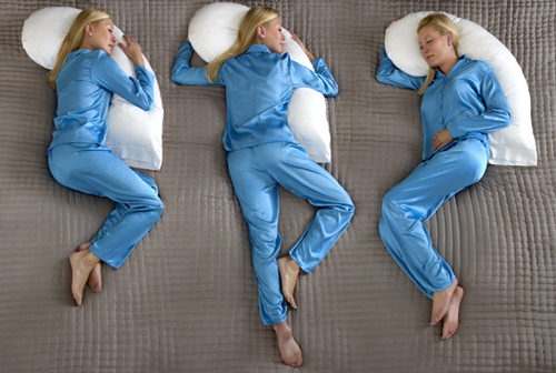 Snoozer Upper Body Pillow Sleeping Positions
