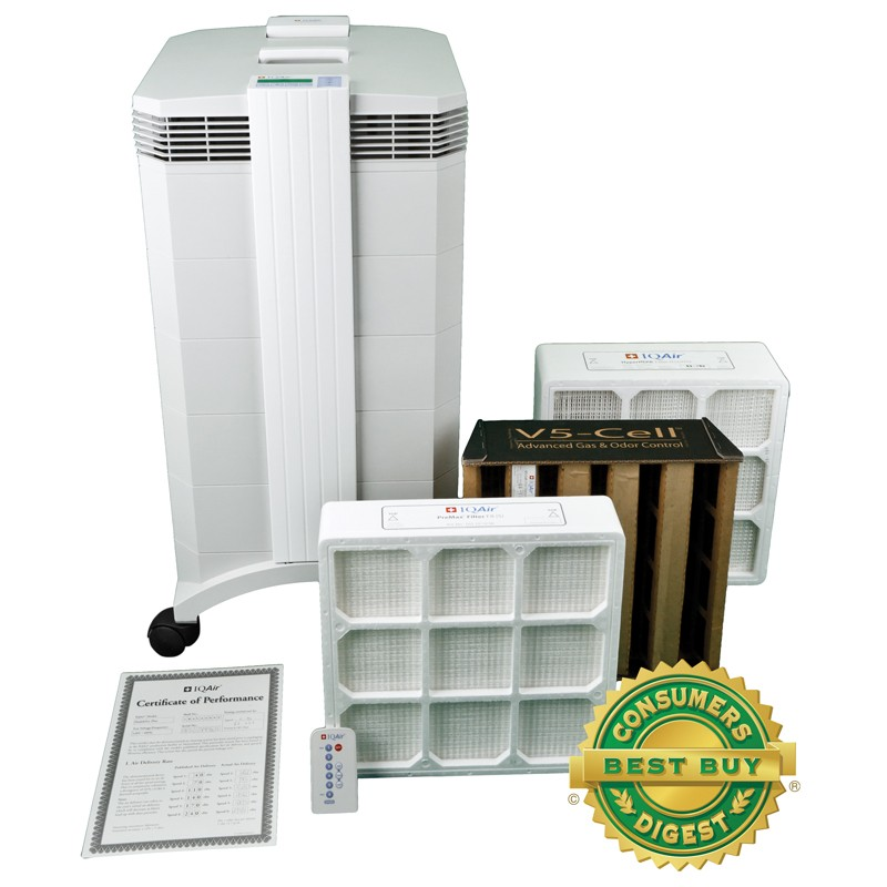 IQAir HealthPro Plus HEPA Air Purifier - New Edition - Free ...