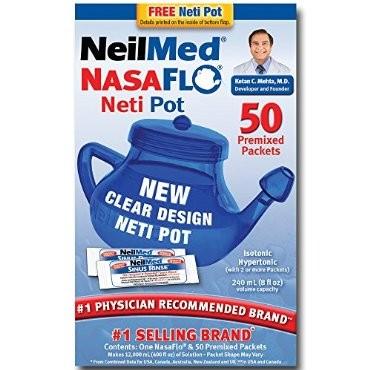 Neilmed Nasaflo Saline Rinse Kit Nasal Irrigation Sinus Flush