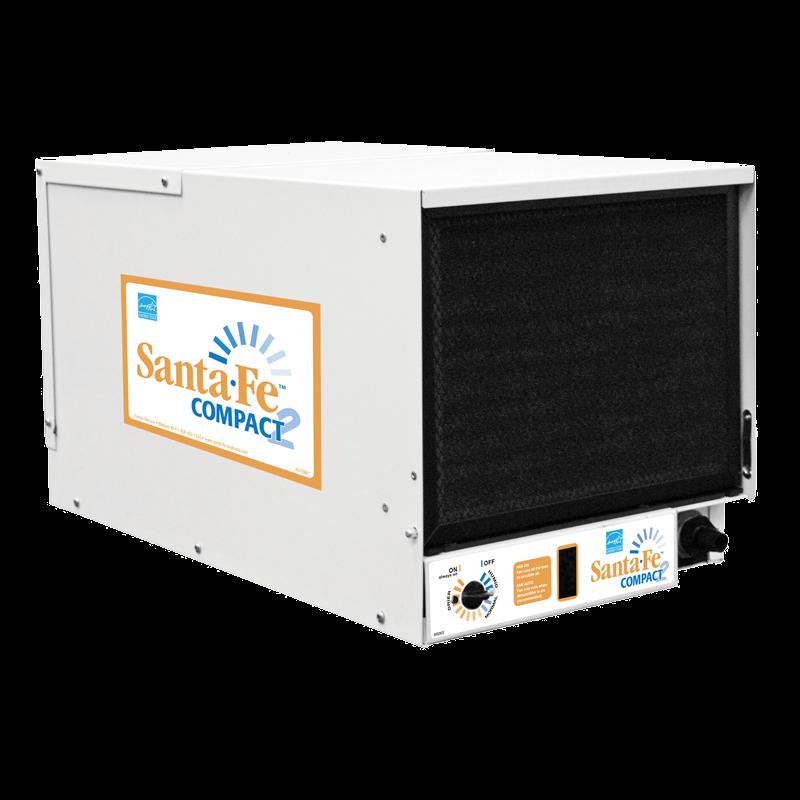 Santa Fe Compact2 Dehumidifier Small Crawlspace Dehumidifier