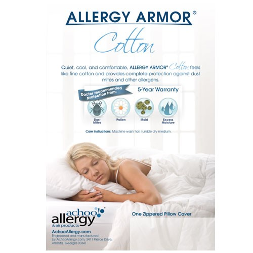 Allergy Armor Cotton Pillow Covers