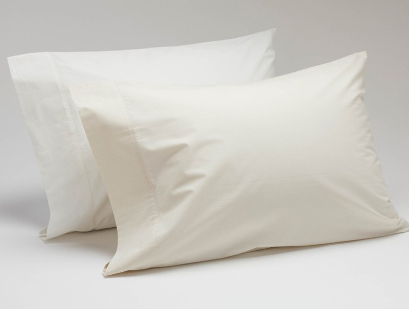Coyuchi Sateen Pillow Case Set - King Ivory