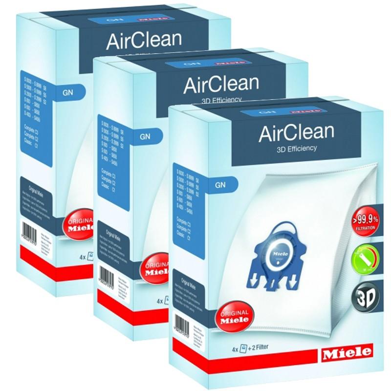 Miele 3D AirClean GN FilterBags - 3 Box Case