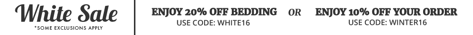 20% Off Allergy Bedding! Winter White Sale!